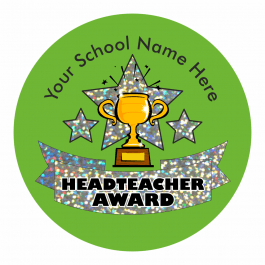 Head Teacher Trophy Award Sparkly Stickers
