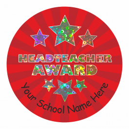 Head Teacher Star Sparkly Stickers