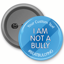 I am not a bully button badge