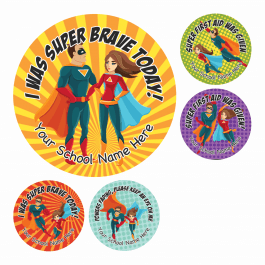 Superhero Bravery Stickers