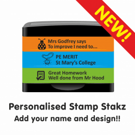 Personalised Stamp Stakz - 3 Bricks