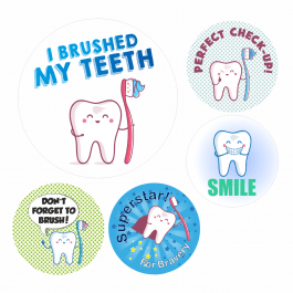 Dentist Assorted Reward Stickers