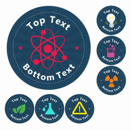 Science Customisable Mixed Stickers