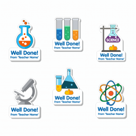 Custom Shape Science Stickers