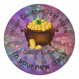 Good Luck in Your New Class Sparkly Stickers