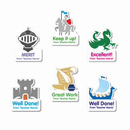 Custom Shape History Stickers