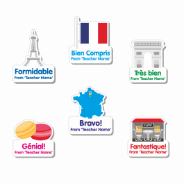 Custom Shape French Stickers