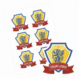 Paper Custom Logo Stickers - 90mm