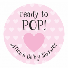 Ready to Pop Pink Heart Stickers