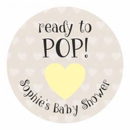 Ready to Pop Yellow Heart Stickers