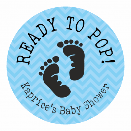 Ready to Pop Blue Footprint Stickers