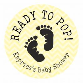 Ready to Pop Yellow Footprint Stickers