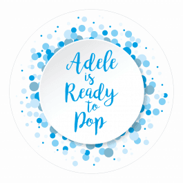 Ready to Pop Blue Spotty Stickers
