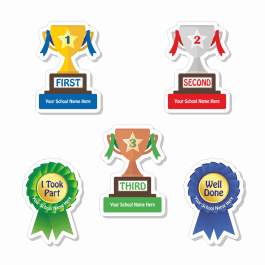 Sports Day Custom Shape Stickers