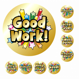 An image of Mini Metallic Gold Shooting Star Stickers-SMALL