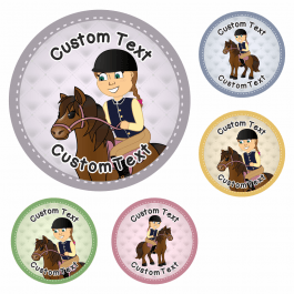 Horse and Rider Custom Stickers