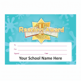 Reading Award Gold Star Certificate