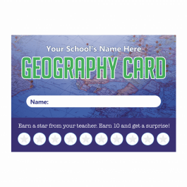 Geography Punch Cards