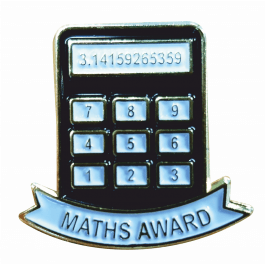 An image of Maths Award Lapel Badge