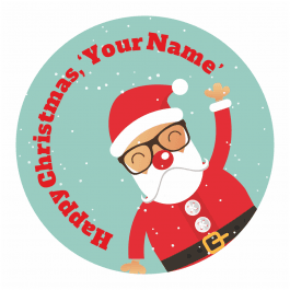 Christmas Stickers - Santa with Glasses