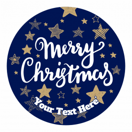 Christmas Stickers - Navy and Gold Stars