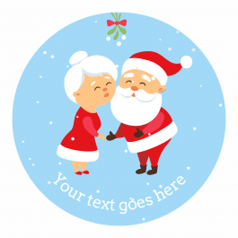 Christmas Stickers - Mr and Mrs Claus