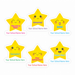 An image of Star Expressions Shape Stickers-VALUE