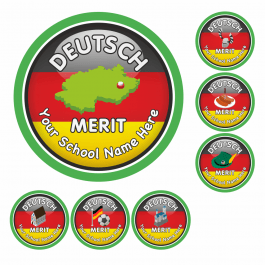 An image of German Flag Reward Stickers-VALUE