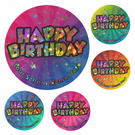 Super Sparkly Happy Birthday Stickers