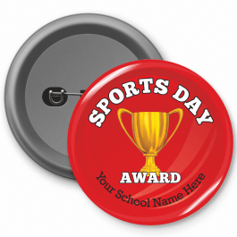 Sports Day Award Trophy Button Badge