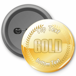 Gold Customisable Button Badge