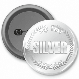 Silver Customisable Button Badge