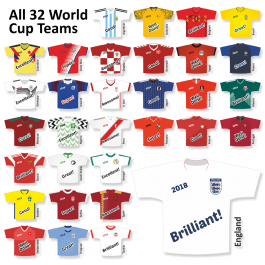 World Cup 2018 Shirt Stickers