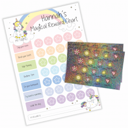 Magical Unicorn Reward Chart with Sparkly Stickers