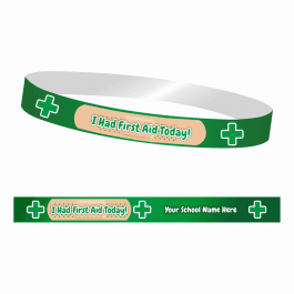 I Had First Aid Today! Wristbands