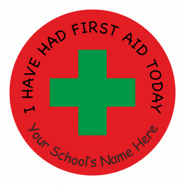 "Injury ""I have had first aid"" Stickers"