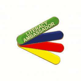 An image of Literacy Ambassador Pin Badge - Bar