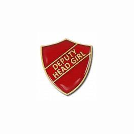 An image of Deputy Head Girl Pin Badge - Shield