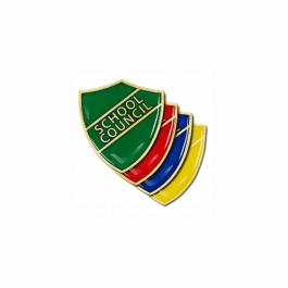 An image of School Council Pin Badge - Shield