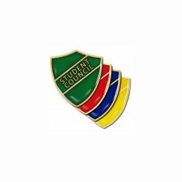 An image of Student Council Pin Badge - Shield