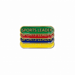 Sports Leader Pin Badge - Bar