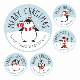 Penguin Christmas Wishes Stickers