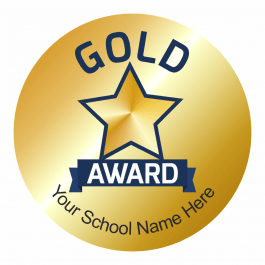 Gold Effect Gold Award Stickers