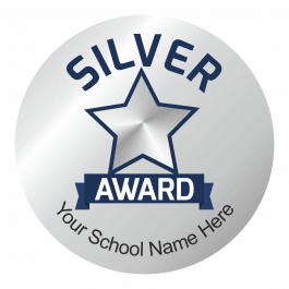 Silver Effect Silver Award Stickers