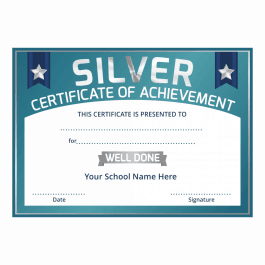 Silver Certificate of Achievement