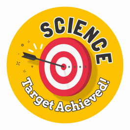 Science Target Achieved Stickers