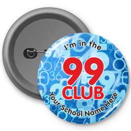 99 Club Times Table Button Badges