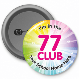 77 Club Times Table Button Badges