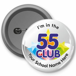 55 Club Times Table Button Badges