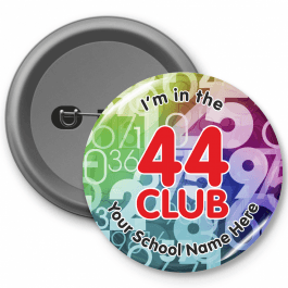 44 Club Times Table Button Badges
